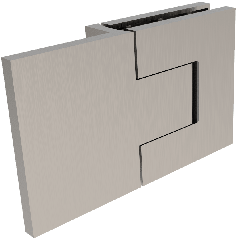 CRL BELLAGIO Adjustable Brushed Nickel 180° Glass-Wall Shower Hinge, Cover Plates
