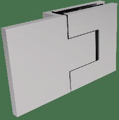 CRL BELLAGIO Adjustable Polished Chrome 180° Glass-Wall Shower Hinge, Cover Plates
