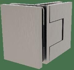 CRL BELLAGIO Adjustable Brushed Nickel 90° Glass-Glass Shower Hinge, Cover Plates