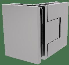 CRL BELLAGIO Adjustable Polished Chrome 90° Glass-Glass Shower Hinge, Cover Plates