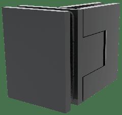 CRL BELLAGIO Adjustable Matte Black 90° Glass-Glass Shower Hinge, Cover Plates