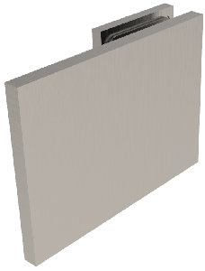 CRL BELLAGIO Brushed Nickel 180° Wall Clamp, Cover Plates