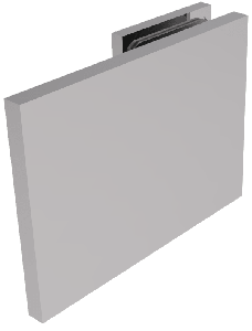 CRL BELLAGIO Polished Chrome 180° Wall Clamp, Cover Plates