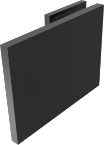 CRL BELLAGIO Matte Black 180° Wall Clamp, Cover Plates