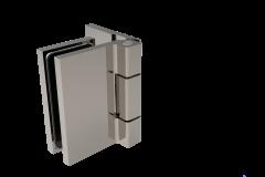 CRL COMO Brushed Nickel 90° Glass-to-Wall Hinge