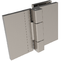 CRL COMO Brushed Nickel 180° Glass-to-Wall Hinge