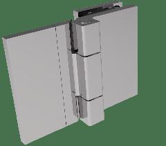 CRL COMO Polished Chrome 180° Glass-to-Wall Hinge