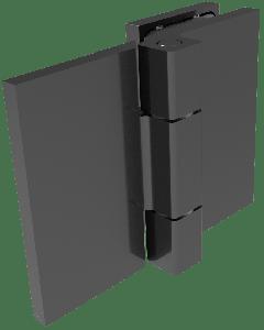 CRL COMO Matte Black 180° Glass-to-Wall Hinge