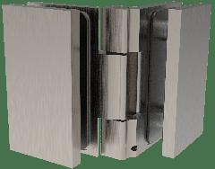 CRL COMO Brushed Nickel 90° Glass-to-Glass Hinge