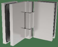 CRL COMO Polished Chrome 90° Glass-to-Glass Hinge