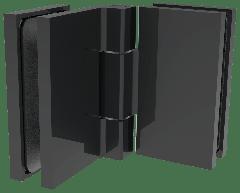 CRL COMO Matte Black 90° Glass-to-Glass Hinge