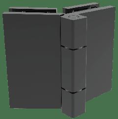 CRL COMO Matte Black 135° Glass-to-Glass Hinge