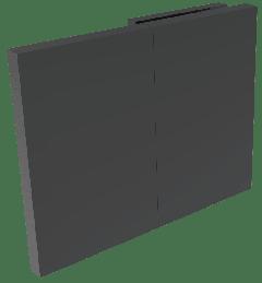 CRL COMO Matte Black 180° Wall Clamp