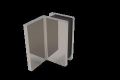 CRL COMO Polished Chrome 90° Wall Clamp