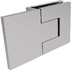 CRL BELLAGIO Adjustable 180° Glass-Wall Shower Hinge, Cover Plates