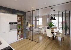 CRL COMPACT X Sliding Door System, False Ceiling Installation, Fixed Panel, 70 kg, matte black, 3 m