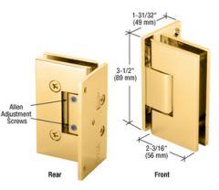 CRL Adjustable Gold Plated Wall Mount Offset Back Plate