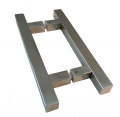 CRL square pull handle 25 x 25 mm, 300 mm length, 190 mm centre to centre, brushed stainless steel