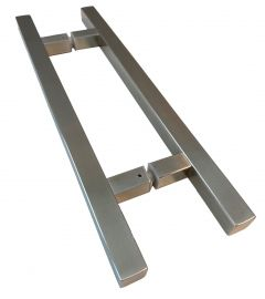 CRL square pull handle 25 x 25 mm, 450 mm length, 290 mm centre to centre, brushed stainless steel