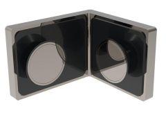 CRL LUGANO 90° Glass Clamp, Flush Mount