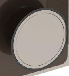 CRL Chrome Finish Cover Plate, round