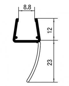 CRL 'Y' Jamb Seal with Soft Leg  for 10 - 12 mm Glass