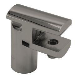 CRL Brushed Nickel Adjustable Support Bar U-Bracket, Ø 12 mm, 8 - 10 mm