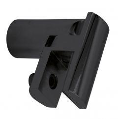 CRL Matte Black Adjustable Support Bar U-Bracket, Ø 12 mm, 8 - 10 mm