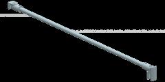 CRL round support bar set, Ø 12 MM, 1200 MM, glass-wall mount, 8 -10 mm, chrome