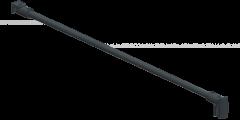 CRL round support bar set, Ø 12 MM, 1200 MM, glass-wall mount, 8 -10 mm, matte black