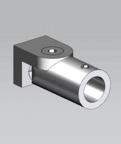 CRL Polished Chrome Adjustable Wall Bracket, Ø 12 mm