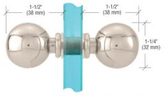 CRL Polished Nickel Ball Style Back-to-Back Knobs