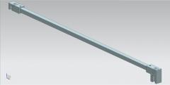 CRL Stabilisierungsstange Ø 12 mm, 1200 mm, Komplett-Set Glas-Wand, 6 - 8 mm, Chrom