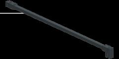 CRL square support bar set, 12 x 12 MM, 1200 MM, glass-wall mount, 8 - 10 mm, matte black