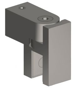 CRL Brushed Nickel Swiveling U-Bracket for 8 - 10 mm Glass, 12 x 12 mm