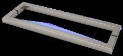 CRL SLIM ELEGANCE Series Square Back-to-Back Pull Handles 15 x 15 mm, CC 500 mm, Length 515 mm, Chrome