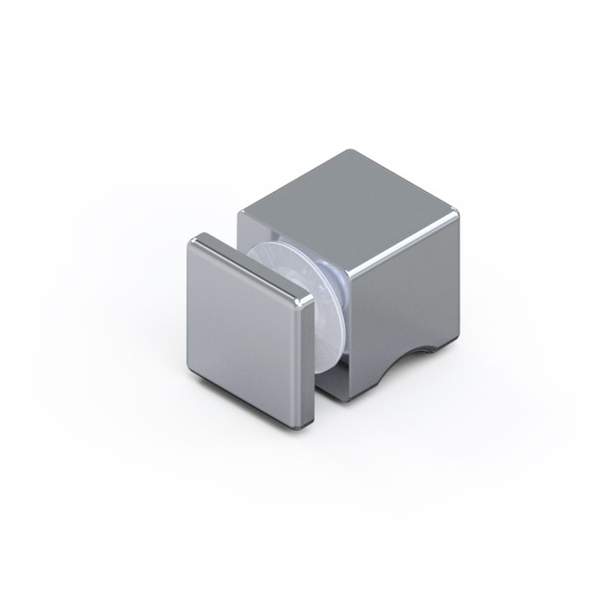 CRL Square Single-Sided Style Knob, 30 x 30 x 30 mm