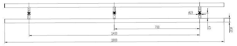 CRL Straight Style Ladder Pull - European