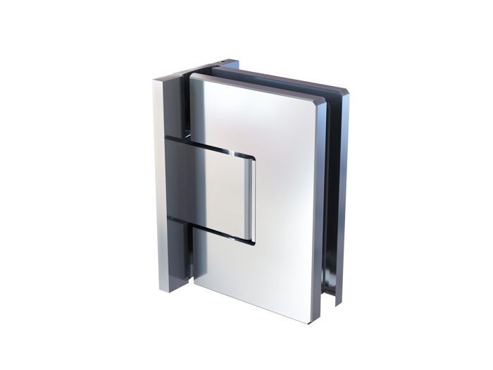 CRL FLORENCE 90° glass to wall adjustable swing door hinge with polymer technology, full back plate