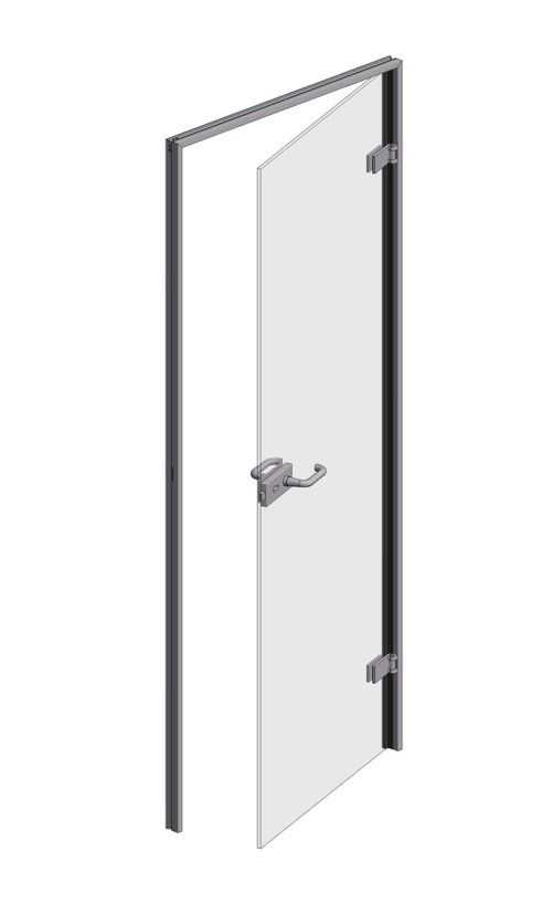 CRL OFFICE Glass to Wall Door Frame Set