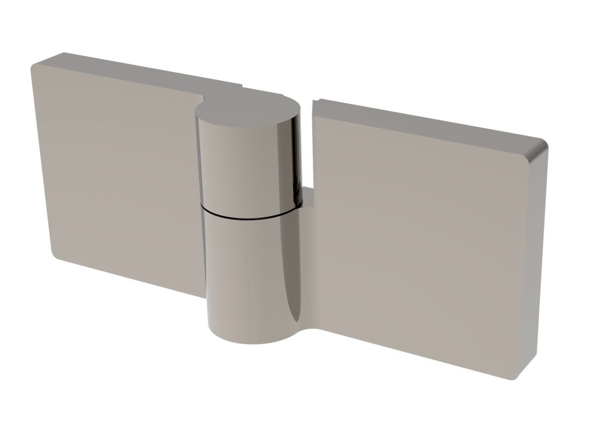 CRL LUGANO Offset 180° Glass-Glass Mount Hinge, Rise-Fall Action, Flush Mount