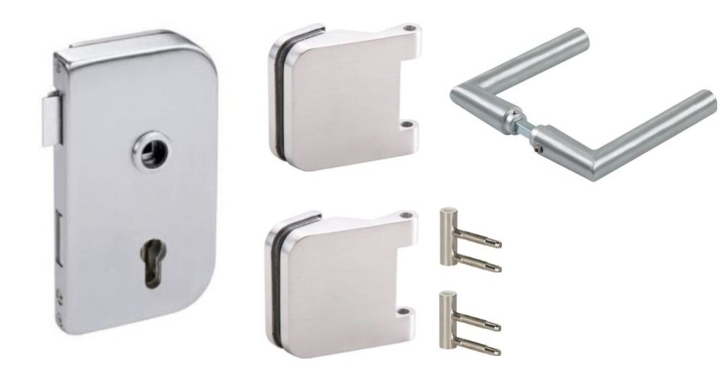 CRL OFFICE Satin Stainless Hinge-Set, lockable