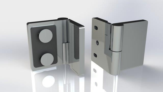 CRL Riviera Offset Wall Mount Hinges