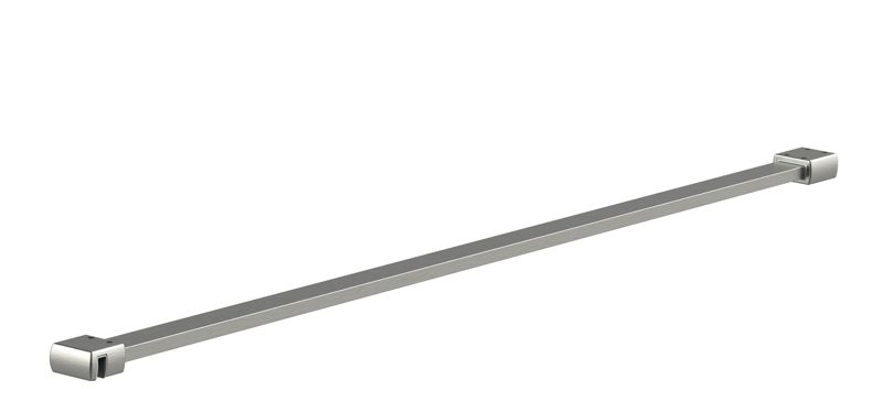 CRL 25 x 10 mm support bar set, glass-wall mount for 8 mm glass, 1200 mm