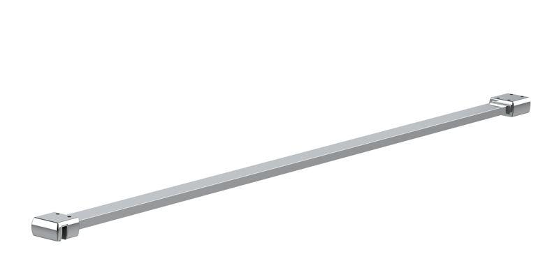 CRL 25 x 10 mm support bar set, glass-wall mount for 8 mm glass, 1200 mm