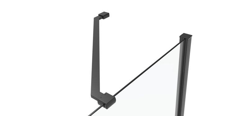 CRL 45° support bar set, glass-wall mount for 8 mm glass, 300 mm