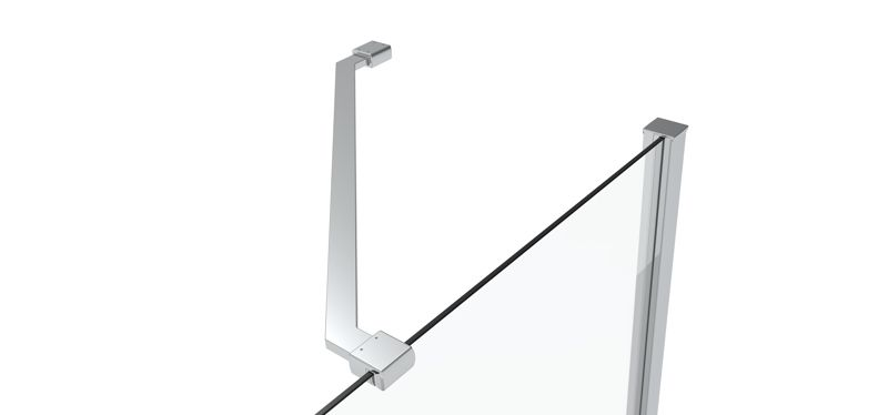 CRL 45° support bar set, glass-wall mount for 8 mm glass, 300 mm